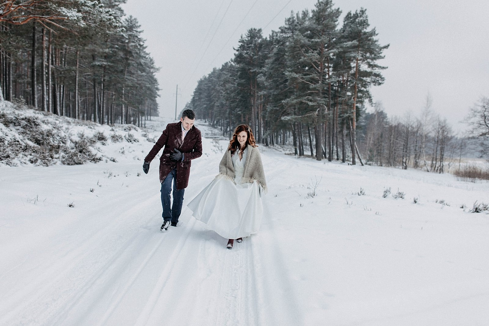 baltas ziemas kazas