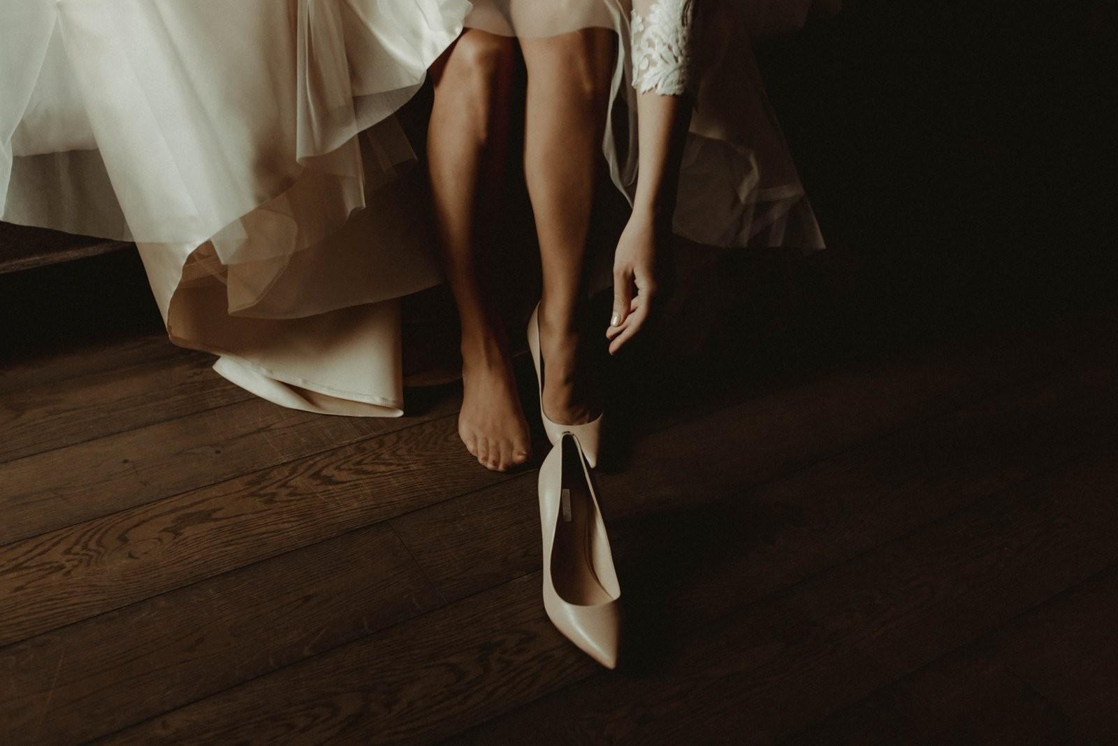 līgava pirms ceremonijas